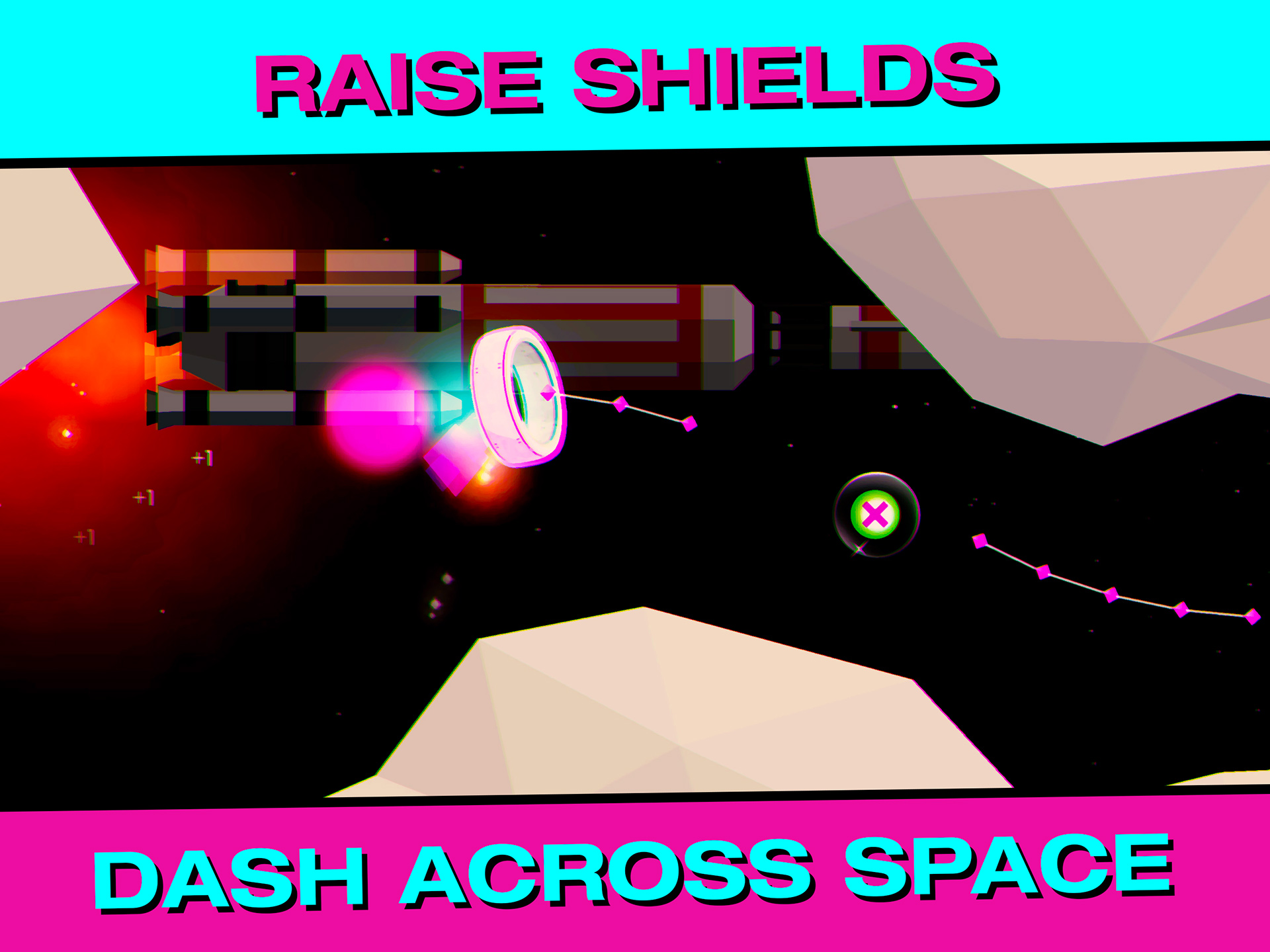 RAISE SHIELDS, DASH ACROSS SPACE